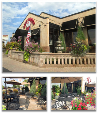 Our restaurant and Rose Garden Cafe outdoor area