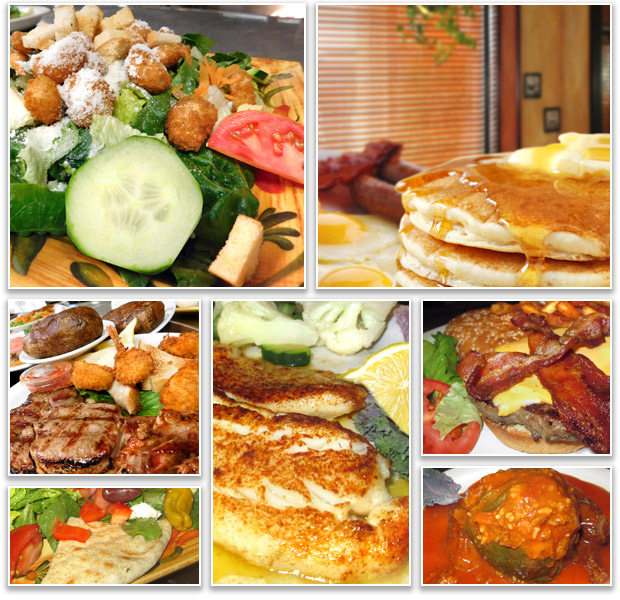 Delicious food selections for breakfast and lunch at Rose Garden Cafe